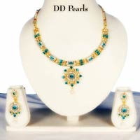 Blue Diamond Necklace Set