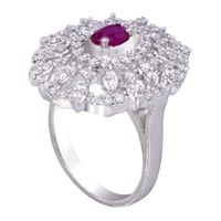 Ladies Silver Ring (SR009)