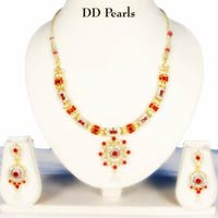 Red Diamond Necklace Set