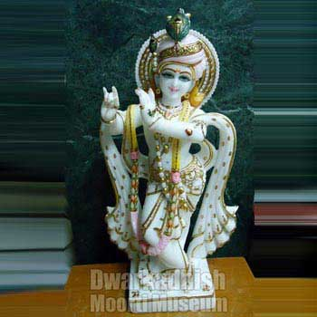 White Marble Krishna Statues 02