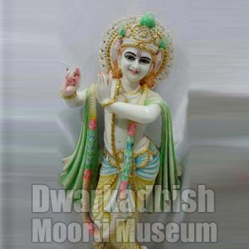 Cultural Marble krishna Statue 02