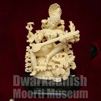 Cultural Marble Saraswati Statue 02