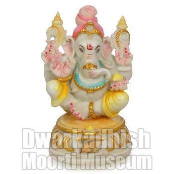 Cultural Marble Laxmi Ganesh Statue