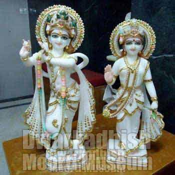 Marble Radha Krishna Statue 02