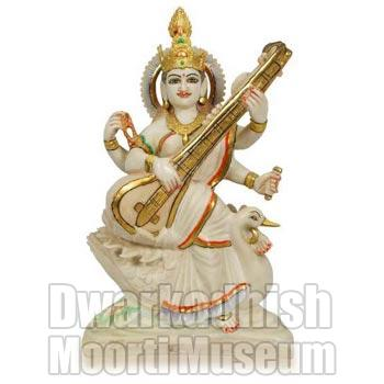 Cultural Marble Saraswati Statue