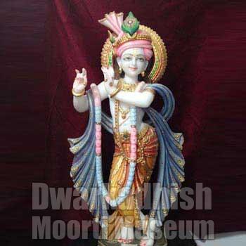 White Marble Krishna Statues 01