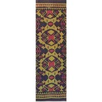 Black Gold Red Ikat fabrics