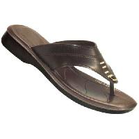 Ladies Slipper-1001A Blk /Br / Tan