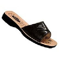 Ladies Slippers -33 Black / Brown