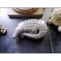 Marble Crocodile Statue