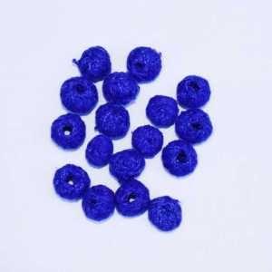 Blue Cotton Thread Beads