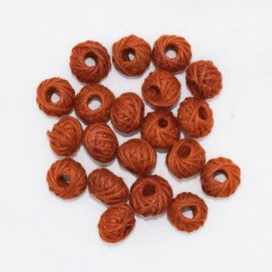 Brown Cotton Thread Beads