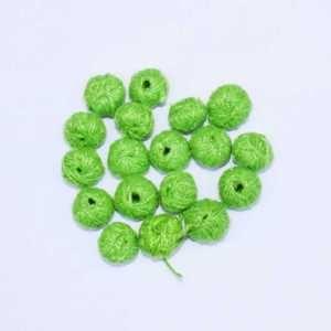 CBC-001 Lime Green Cotton Thread Bead