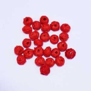 CBC-012 Red Cotton Thread Bead