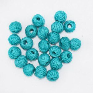 CBC-014 Sky Blue Cotton Thread Bead