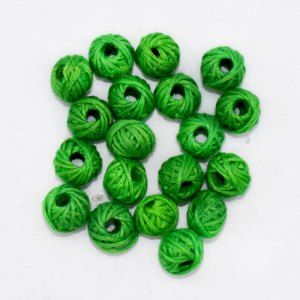 CBC-017 Lime Green Cotton Thread Beads