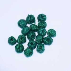 Dark Green Cotton Thread Beads