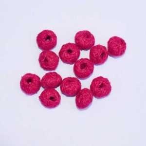 Dark Pink Cotton Thread Beads