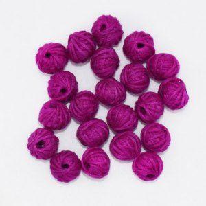 Light Purple Cotton Thread Beads