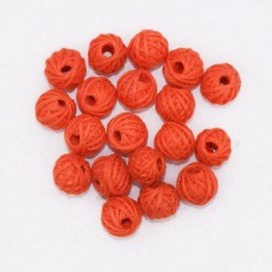Orange Cotton Thread Beads