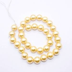 PULZ-002 Gold Shell Pearl Bead