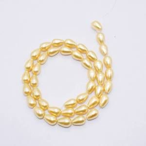 PULZ-022 Gold Shell Pearl Bead