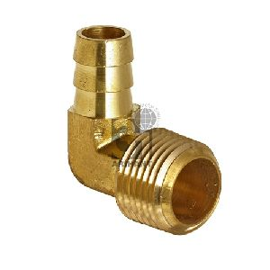 Brass Elbow Hose Barb to Mips