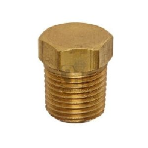 Brass Plug Cored Hex Head