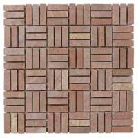 Fire Brick Mosaic Tiles