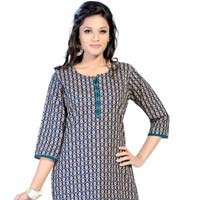 Contemporary Allure Indian Printed Cotton Kurta