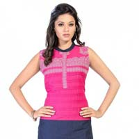 Dual Drive Pink and Purple Tunic with Pintex Design
