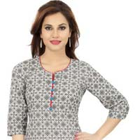 Summertime Print Galore Cotton Tunic for Women