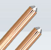 Copper bonded rod