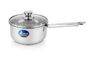 Stainless Steel Induction Base Saucepan With Glass Lid