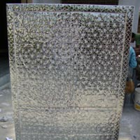 Glass Inlay Work on Almirah