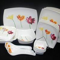 3 Flower Design Dinner Set