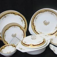 Golden Brown Dinner Set