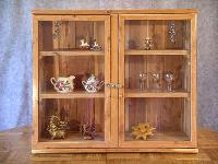 wooden showcases