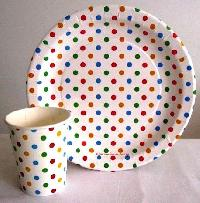 multi color paper plates