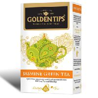 Golden Tips Jasmine Green Tea 20 Full Leaf Pyramid Tea Bags