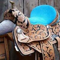 Barrel Horse Saddle 01