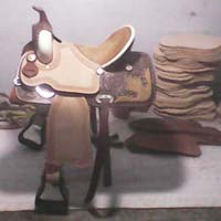 Barrel Horse Saddle 03