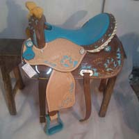 Barrel Horse Saddle 04