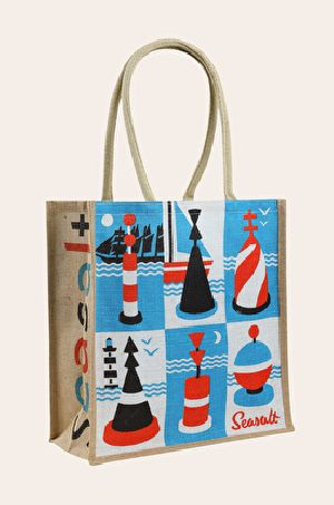 W 13.5 x L 15.5 x G 4.5 inch Jute Shopping Bag