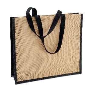 W 13 x L 13 x G 4.5 inch Jute Shopping Bag