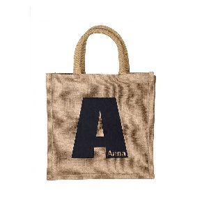 W 14.5 x L 16.5 x G 4.5 inch Jute Shopping Bag