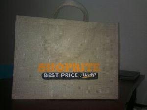 W 15 x L 13 x G 4.5 inch Jute Shopping Bag