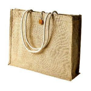 W 16 x L 14 x G 4.5 inch Jute Shopping Bag 01