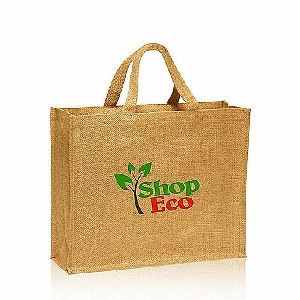 W 16 x L 15 x G 4.5 inch Jute Shopping Bag