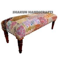 Handmade Khambadiya Patchwork Bench (Item Code : BECL0751)